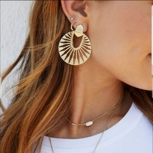Gold, Kendra Scott, Didi, Earrings